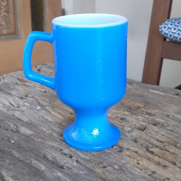 Vintage Blue Milk glass mug